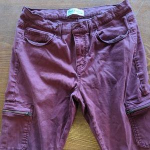 Mudd maroon skinny jeans